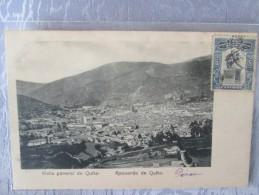 VISTA GENERAL DE QUITO . RECUERDO DE QUITO . DOS 1900 - Pérou