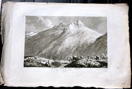 SUISSE SWISS GRANDE VUE D'UNE PARTIE DU MONT GRIMSEL   ZURLAUBEN 1780 - Estampes & Gravures