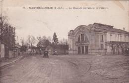A12 - 78 - Mantes-la-Jolie - Yvelines - La Place De Lorraine Et Le Théâtre - N° 75 - Mantes La Jolie