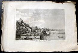 SUISSE SWISS GRANDE VUE D'UNE PARTIE DE LA VILLE DE MORAT    ZURLAUBEN 1780 - Estampes & Gravures