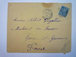 ENVELOPPE  Au Départ De NOUMEA  à Destination Du TARN-ET-GARONNE   1921   - Briefe U. Dokumente