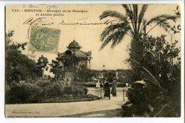 MENTON - Kiosque De La Musique Et Jardin Public - Menton