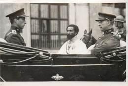 Ethiopie - L' Empereur Hailé Sélassié Et Albert Ier Roi Des Belges - Royal Families