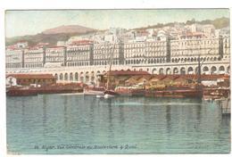 POSTAL  ARGEL (ALGER) ARGELIA -AFRICA - VISTA GENERAL DEL BOULEVARD Y MUELLE ( VUE GÉNÉRALE DU BOULEVARD & QUAI ) - Argelia