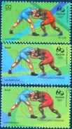 BRAZIL 2015  -   Olympic And Paralympic Games - Rio 2016  -  Wrestling  3v  MINT - Brasile