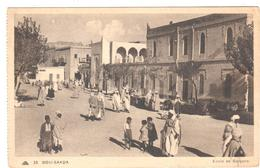 POSTAL  BOU-SAADA -ARGELIA  - ESCUELA DE JOVENES ( ECOLE DE GARÇONS ) - Argelia