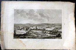 SUISSE SWISS GRANDE VUE DE LA VILLE DE FRIBOURG FREIBURG  ZURLAUBEN 1780 - Estampes & Gravures