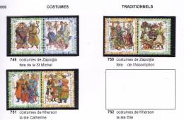 UKRAINE 2006 COSTUMES TRADITIONNELS 749 A 754 MNH - Ucraina