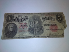 U.S.A. UNITED STAES 1907 $5  BANKNOTE LOC#A1267 - United States Notes (1862-1923)
