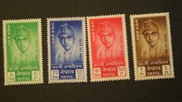 Nepal 130-133 King Mahendra 41st Birthday MNH 1961 A04s - Nepal