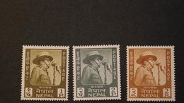 Nepal 173-175 King Mahendra 44th Birthday MNH 1964 A04s - Nepal