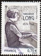 Oblitération Cachet à Date Sur Timbre De France N° 5032 - Pianiste - Marguerite LONG - Usati