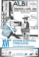 CP.  BERNARD VEYRI...XVI° SALON NATIONAL DES CPA......ALBI  .1993. - Veyri, Bernard