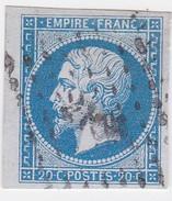 N°  14 A    PC  2100   MONTHOIS   /  ARDENNES   -  LOT 11417 + BEAU BORD DE FEUILLE + IND 9  COTE 55€ - 1853-1860 Napoléon III