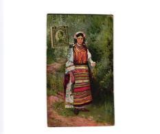 FEMME SERBE EN COSTUME NATIONAL (TIMBRE)   REF 49741 - Serbia