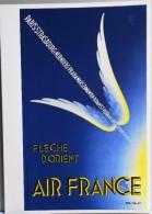 MENU - AIR FRANCE - FLECHE D'ORIENT - Illustrée Par Paolo-Frédérico Garretto - Paris-Strasbourg-Nurenberg - Parf. ét. - Menus