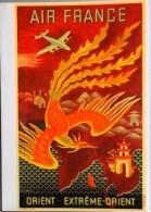 MENU - AIR FRANCE - ORIENT - EXTREME-ORIENT - Illustrée Par Lucien Boucher - Avion Constellation L 749 - Parf. ét. - Menus