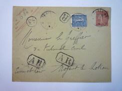 ENVELOPPE REC  Au Départ De  PARIS  à Destination  De  NOGENT-le-ROTROU   1907   - Marcophilie (Lettres)