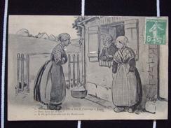 """CONVERSATION CAMPAGNARDE / """"ALORS COMMENT VA VOTRE FILLE """" / BELLE CARTE /  LEDZ / 1921 - Humor"""