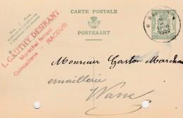 Racour  ,carte Publicité , L.Gauthy Desirant  ,maréchal Ferrant - Lincent