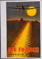 MENU - AIR FRANCE - AMERIQUE Du SUD - Illustrée Par Victor Vasarély - Le Constellation En Approche De Rio - Parf. ét. - Menus