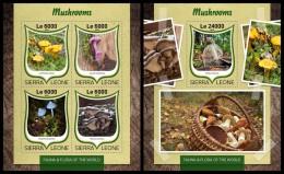 SIERRA LEONE 2016 - Mushrooms, M/S + S/S. Official Issue. - Paddestoelen