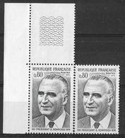 France 1975 - Variété - Président Georges Pompidou  - Y&T N° 1839 ** Neufs Luxe (gomme Tropicale Mate) - Varietà: 1970-79 Nuovi