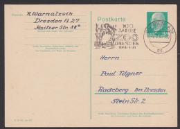 "Pelican Pelícano DDR GA-Karte Mit MWSt. ""100 Jahre ZOO Dresden"" 1962 Aus Dresden Mit Pelikan - [6] Repubblica Democratica"