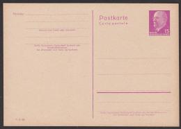 DDR P72 * 15 Pf Walter Ulbricht  Ganzsachenkarte - Postales - Nuevos