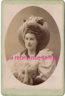 Grand CDV-(CAB) Beau Portrait D'une Femme-chapeau Paille-anglaises-artiste?-anonyme, Bel état - Photos