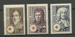 FINNLAND FINLAND 1936 Red Cross Michel 194 - 196 MNH - Nuovi