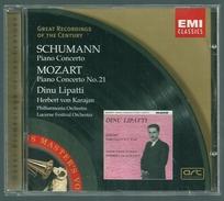 CD PIANO -  SCHUMANN / MOZART / CONCERTO - CONCERTO N° 21 - DINU LIPATTI, Piano - Klassik