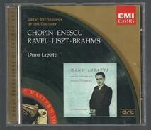 CD PIANO -  CHOPIN /ENESCU / RAVEL / LISZT / BRAHMS - DINU LIPATTI, Piano - Classique