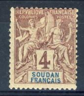 Sudan 1894 N. 7 C. 4 Lilla Bruno Su Grigio MH Catalogo € 6,75