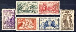 Sudan 1937 Serie N. 93-98 Expo Coloniale MH Catalogo € 12