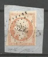 France - F1/052 - Type Napoleon III - N°16 Obl. Losange PC3256 ST QUENTIN - - 1853-1860 Napoleone III