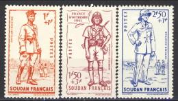 Sudan 1941  Serie N. 122-124 MH Catalogo € 4,50
