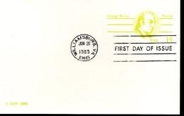 USA   Carte Pap   FDC 1985  George Wythe - Persönlichkeiten