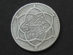 Maroc 5 Dirhams (1/2 Rial ) 1329 H (Paris)   **** EN ACHAT IMMEDIAT **** - Marruecos