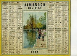 CALENDRIER Grand Format: 1957: Pêche Au Bois De Vincennes - Big : 1941-60