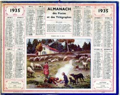 CALENDRIER Grand Format: 1935: Bergerie Dans Le Jura - Calendriers