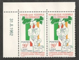 Cameroun1962: Michel380mnh** Pair With Margin Copy - Kameroen (1960-...)