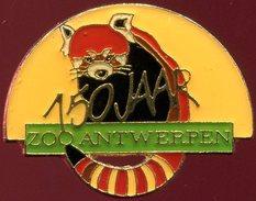 Pin's - Zoo D'Anvers (Belgique) - Raton Laveur - 150 Ans Du Zoo - Animaux