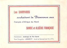 TRACT PROPAGANDE PRO ALGERIE FRANCAISE SAVOIE SAVOYARDS SOUHAITENT BIENVENUE FRANCAIS AFRIQUE DU NORD - Documents
