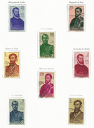 ESPAÑA-SPAIN AÑO 1960 EDIFIL 1298/1305 USADOS. SERIE COMPLETA. Forjadores De América. - 1931-Aujourd'hui: II. République - ....Juan Carlos I
