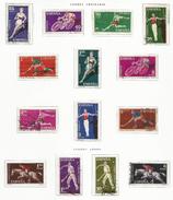 ESPAÑA-SPAIN AÑO 1960 EDIFIL 1306/19 USADOS. SERIE COMPLETA. Deportes. - 1931-Aujourd'hui: II. République - ....Juan Carlos I