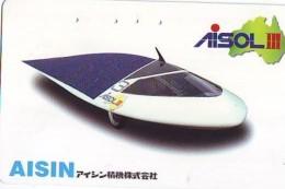 Télécarte Japon * Voiture à Energie Solaire (66)  Solar Car Japan Phonecard * Auto Telefonkarte * AISIN - Auto's