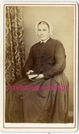 CDV Vers 1880-jeine Femme Modeste Intimidée-anonyme-bel état - Transportation