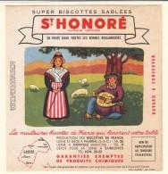 Buvard Biscottes Saint Honoré Régionalisme Folklore Poitou Limousin Auvergne - Zwieback