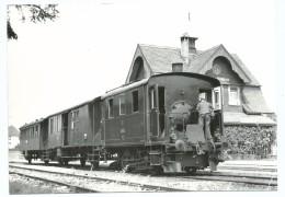 Locomotive Louée Au LHB En Tête D'un Train En Gare De TRIENGEN - WINIKON Suisse - Photo Michel Dehanne - BVA 228 6 ST - Estaciones Con Trenes